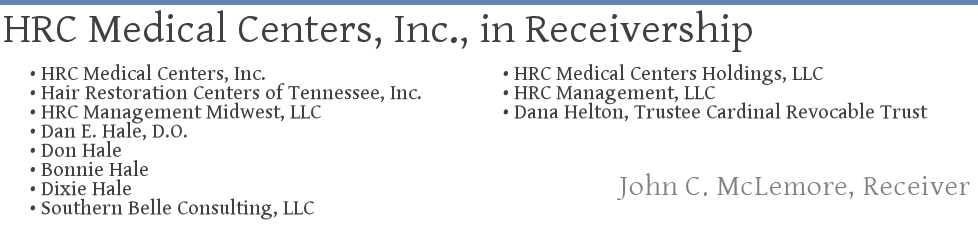 HRC MEDICAL CENTERS, INC., In Receivership ― John C. McLemore, Receiver